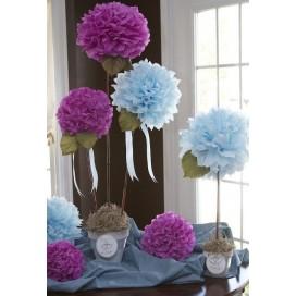 Papierowe kule kwiatowe pompony na wesele Papierowy kwiat, radiant orchid, 35cm