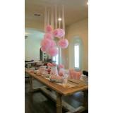 Papierowe kule kwiatowe pompony Papierowy kwiat, różowy, 35cm