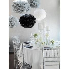 Papierowe kule kwiatowe pompony na wesele Papierowy kwiat, szary, 50cm