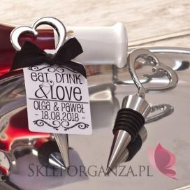Zatyczka do wina serce z personalizacją