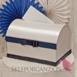 Ekskluzywne pudełka na koperty ślubne Kuferek na koperty - GRANAT