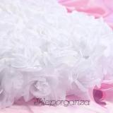 Serce z kwiatów pełne białe, 50cm