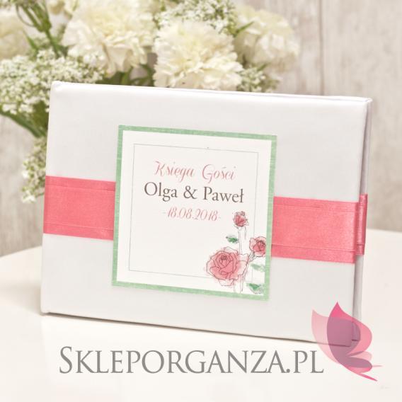 Księgi gości weselnych prostokątne Księga gości - personalizacja kolekcja VINTAGE ROSE I