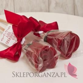 Inne Lizak róża metaliczna bordowa - personalizacja