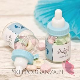 Buteleczka niebieska - personalizacja