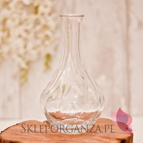 Szklane dekoracje na stół weselny Wazonik ozdobny