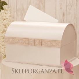 Ekskluzywny kuferek na koperty - RUSTIC KORONKA