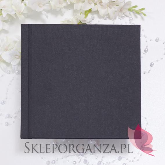 Księga gości płotno czarne