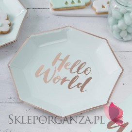 Talerzyki KOLEKCJA HELLO WORLD 8szt.