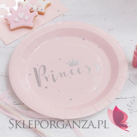 Kolekcja Princess na Baby Shower Talerzyki KOLEKCJA PRINCESS