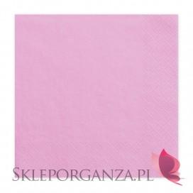 Serwetki różowe 3 warst. 33x33, 20 sztuk