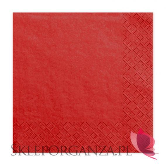 Serwetki czerwone 3 warst. 33x33, 20 sztuk