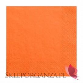 Serwetki pomarańczowe 3 warst. 33x33, 20 sztuk