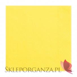 Serwetki żółte 3 warst. 33x33, 20 sztuk