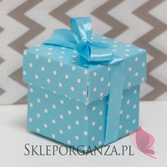 Pudełka niebieskie w kropki, 10szt