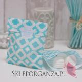 Papierowa torebka ORNAMENT jasnoniebieska - personalizacja
