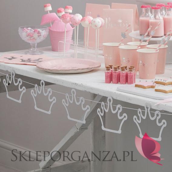 Kolekcja Princess na Baby Shower Baner korony KOLEKCJA PRINCESS