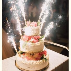 Fontanny i świeczki Fontanna tortowa 18cm