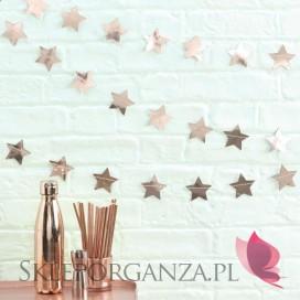 Kolekcja Gwiazdki Rose Gold na Święta Girlanda KOLEKCJA GWIAZDKI ROSE GOLD