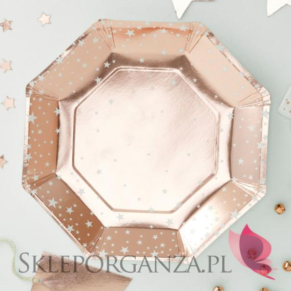 Kolekcja Gwiazdki Rose Gold na Święta Talerzyki KOLEKCJA GWIAZDKI ROSE GOLD