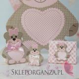 Kolekcja Miś na Baby Shower Pudełko MIŚ różowy mały