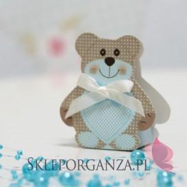 Kolekcja Miś na Baby Shower Pudełko MIŚ niebieski mały