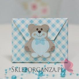 Kolekcja Miś Pudełko koperta MIŚ niebieski