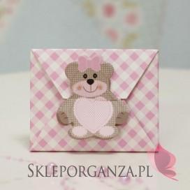 Kolekcja Miś Pudełko koperta MIŚ różowy