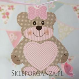 Kolekcja Miś na Baby Shower Dekoracja MIŚ różowy duży