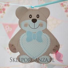 Kolekcja Miś na Baby Shower Dekoracja MIŚ niebieski duży