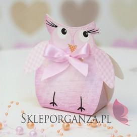 Kolekcja Sowa na Baby Shower Pudełko SOWA różowa