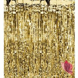 Dekoracje wiszące Kurtyna metaliczna złota