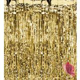 Dekoracje wiszące Kurtyna metaliczna błyszcząca złota