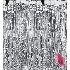 Dekoracje wiszące Kurtyna metaliczna srebrna