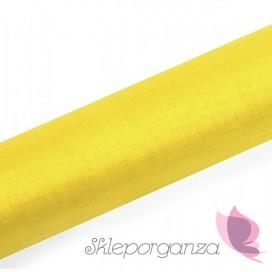 Organza - żółta, 16cm x 9m