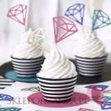 Foremki i Papilotki Papilotki na muffinki czarno – białe paski