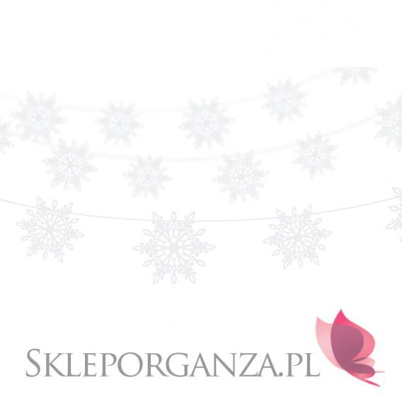 Dekoracje wiszące na Święta -Girlanda perłowe ŚNIEŻYNKI