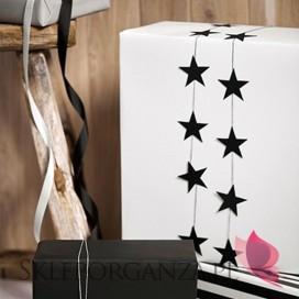 Dekoracje papierowe Girlanda czarne GWIAZDKI