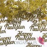 Kolekcja Złoto - Czarna Konfetti złote HAPPY NEW YEAR