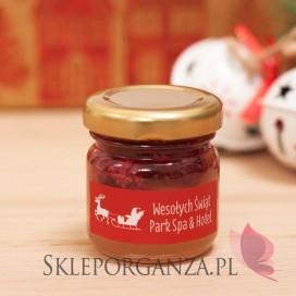 Upominek świąteczny – miód z malinami - personalizacja