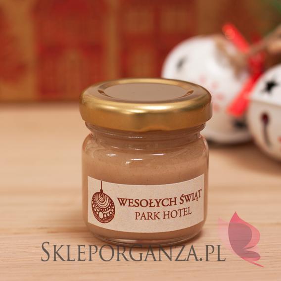 Miody świąteczne z LOGO Upominek świąteczny – miód z cynamonem - personalizacja