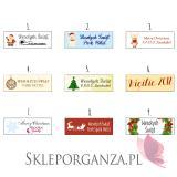 Upominek świąteczny – miód z imbirem - personalizacja