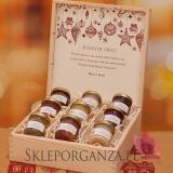 Świąteczny zestaw miodów w szkatułce – duży - personalizacja