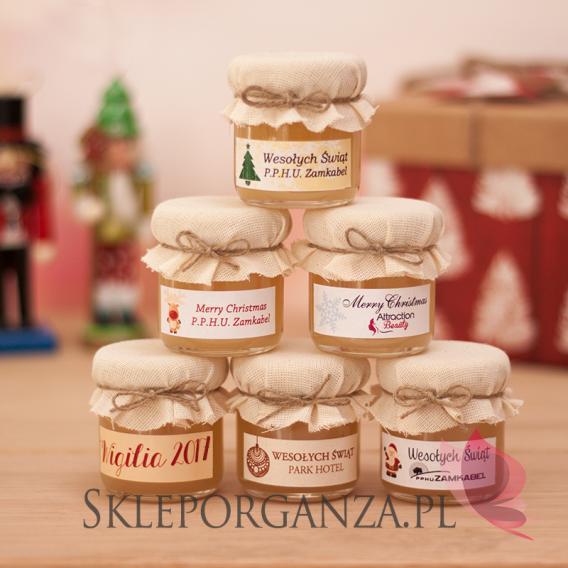 Upominek świąteczny – miód wielokwiatowy - personalizacja