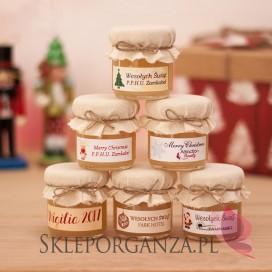 Świąteczny miód wielokwiatowy - personalizacja z dekoracją wieczka