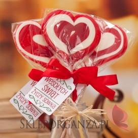 Lizak duży serce czerwone- personalizacja - ŚWIĘTA