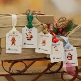 Opakowania do upominków świątecznych Świąteczne bileciki - personalizacja
