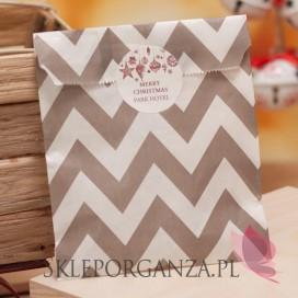 Papierowa torebka ZYG ZAK beżowa - personalizacja - ŚWIĘTA