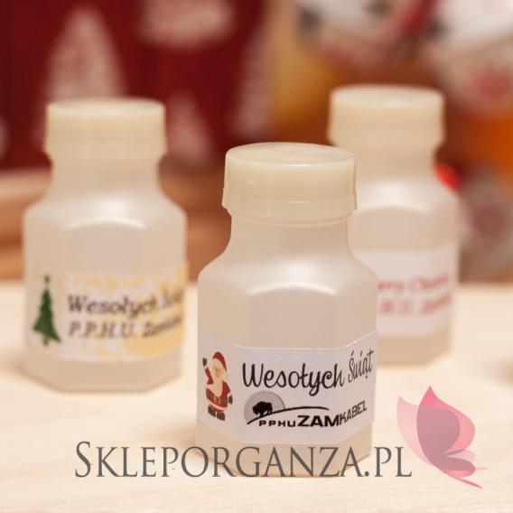 Drobne upominki świąteczne z LOGO Bańka mydlana buteleczka - personalizacja - ŚWIĘTA