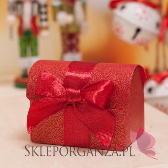 Opakowania do upominków świątecznych Pudełko kuferek czerwony - ŚWIĘTA
